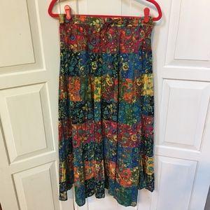 La Cera Colorful Maxi Skirt